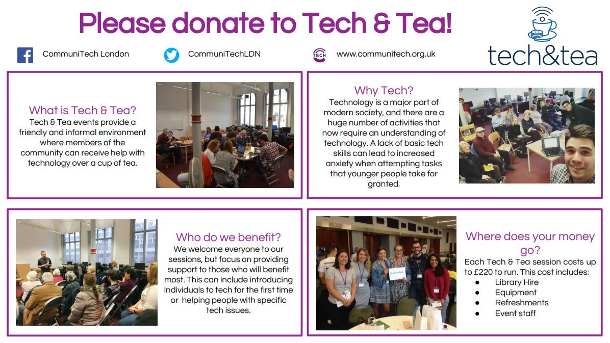 Tech & Tea by CommuniTech London fundraising photo 1