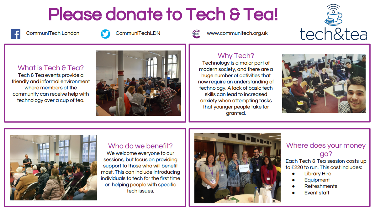 Tech & Tea by CommuniTech London fundraising photo 1