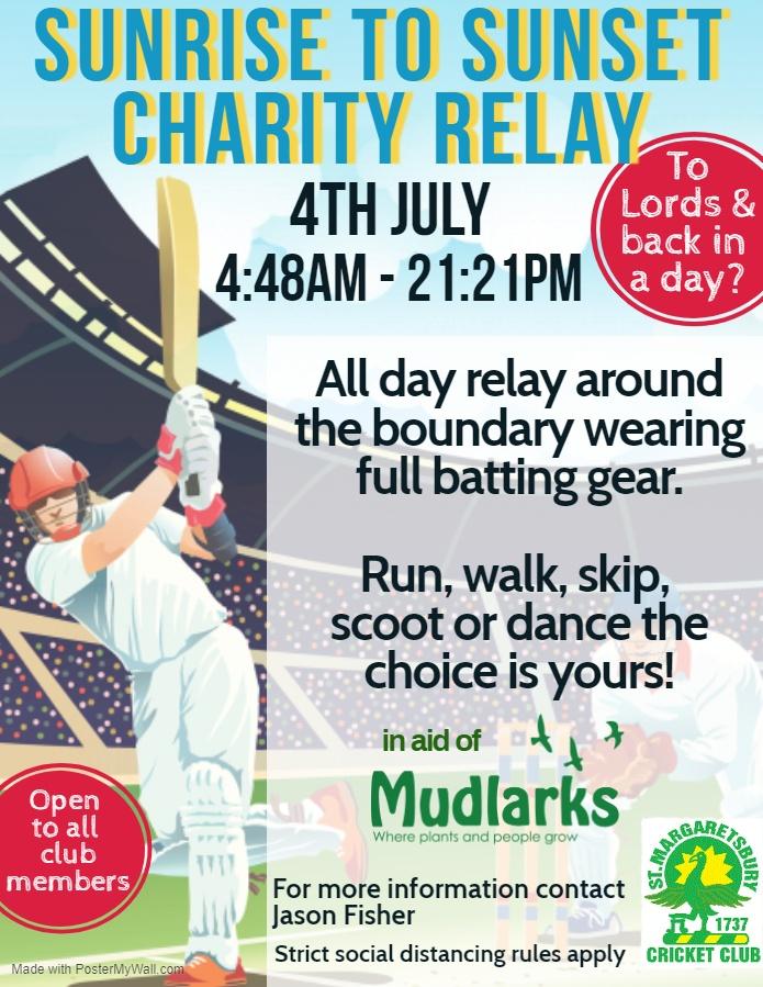 St. Margaretsbury Cricket Club Charity Relay by The Mudlarks Community fundraising photo 3