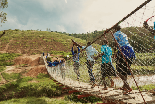 Balfour Beatty and Mott MacDonald: Providing Safe Access for Rwanda by Bridges to Prosperity UK Charitable Trust cover photo