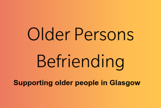 Older Persons' Befriending Services by Volunteer Glasgow cover photo