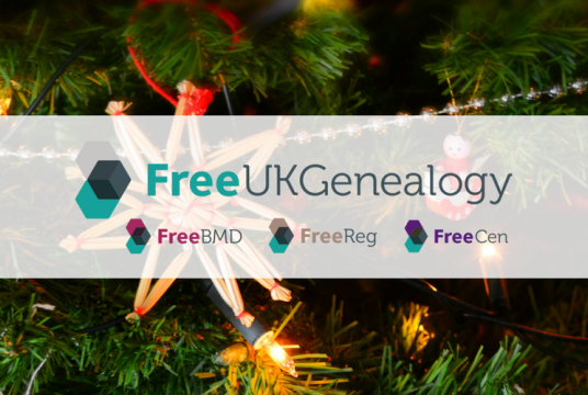 Festive eCard Donations by Free UK Genealogy cover photo