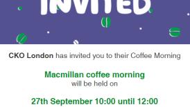 CKO CARE - Macmillan Coffee Morning