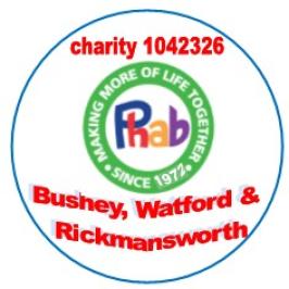 Bushey and Watford phab club logo