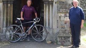 Terry cycles 480 miles in aid of St Mary's Transformation Project
