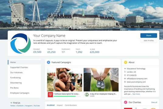 Corporate Fundraising Page by KindLink cover photo