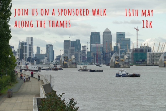 Thames Path Sponsored Walk by Colombian Caravana cover photo